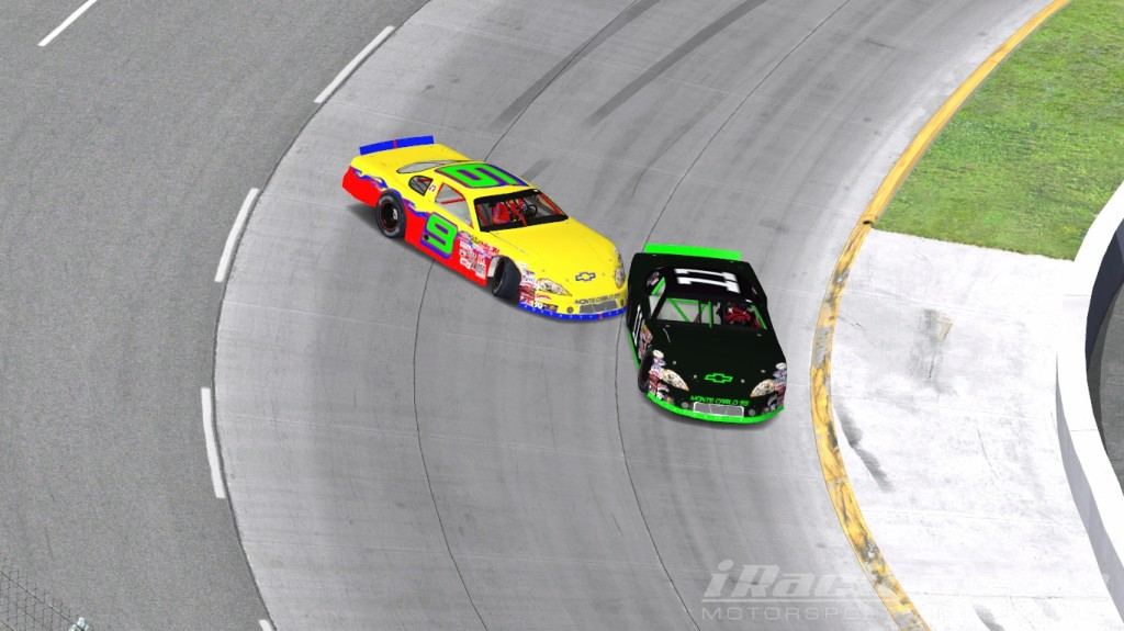 Austin Jefferson #9, Raymond Emmons #11, iRacing Late Models