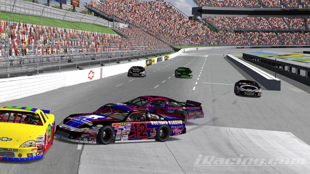 Chris Fletcher in #12, Cody Thompson #8, iRacing Late Models