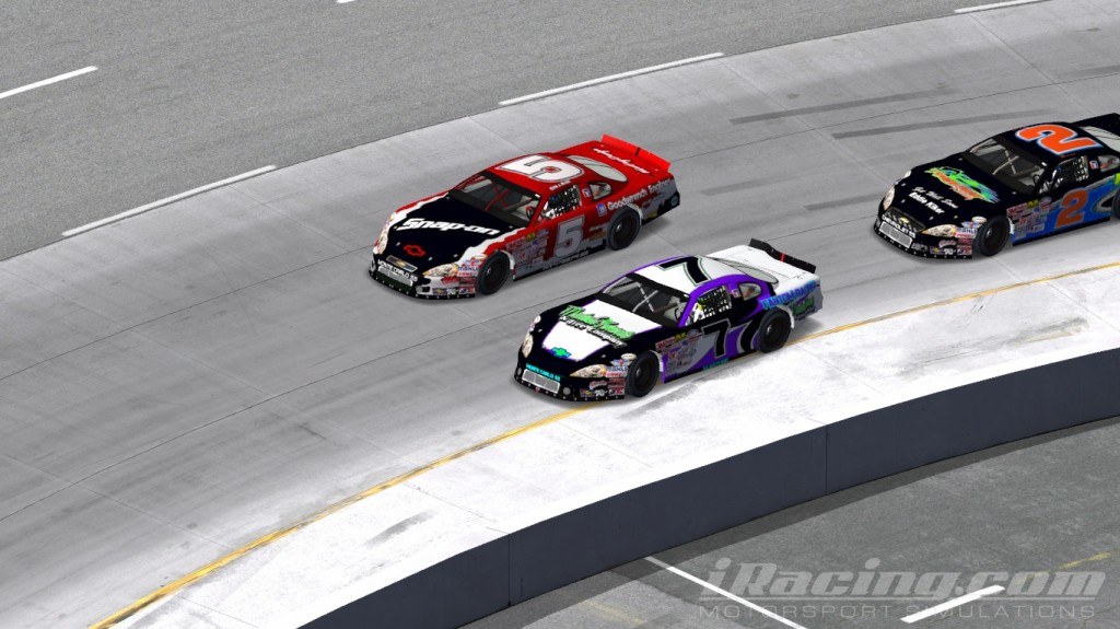 Kevin Myers #5, Mark Arthur #7, iRacing Late Models