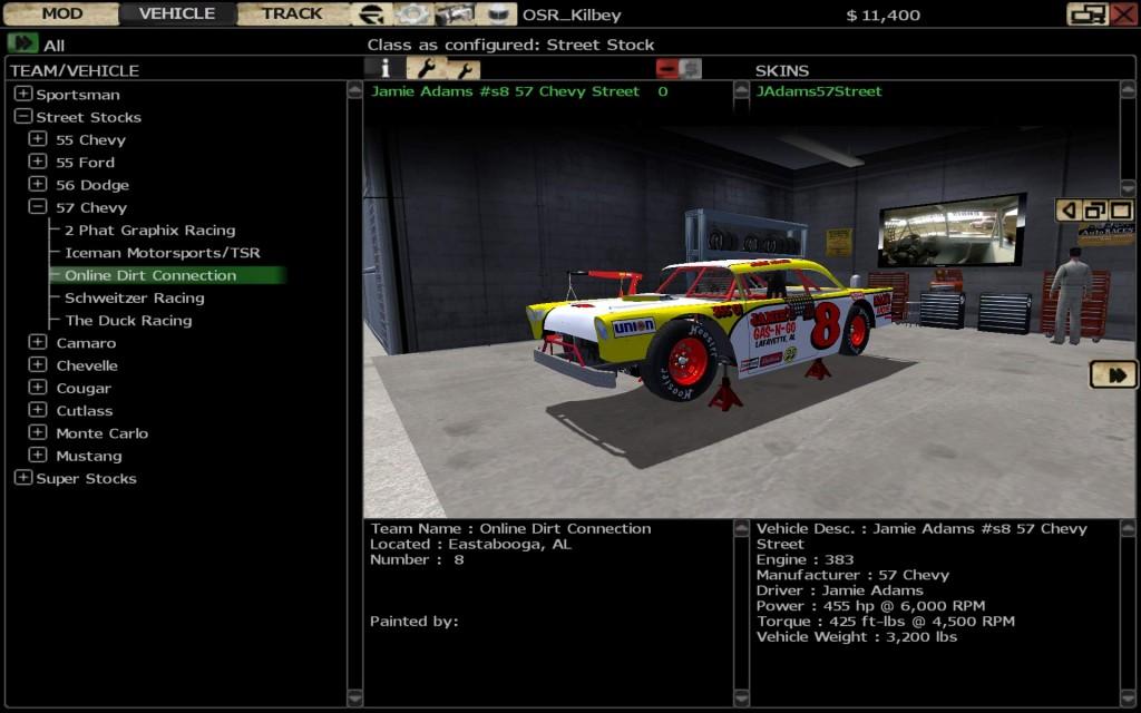 rFactor User Interface