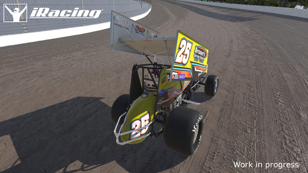 The iRacing Dirt Sprint Car at Eldora Speedway