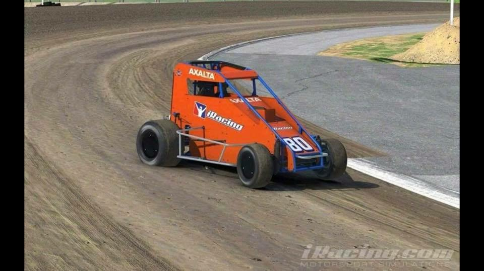 iRacing USAC Midget at Oxford Plains Speedway Dirt