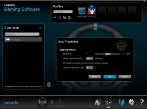 Logitech G29 and G920 Steering Axis Properties
