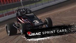 USAC iRacing Non-Winged 410 Sprint Car
