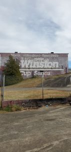 North Wilkesboro Speedway coming in.