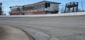 Good view of North Wilkesboro Speedway after cleanup.