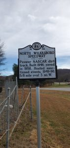 Historic marker near North Wilkesboro Speedway