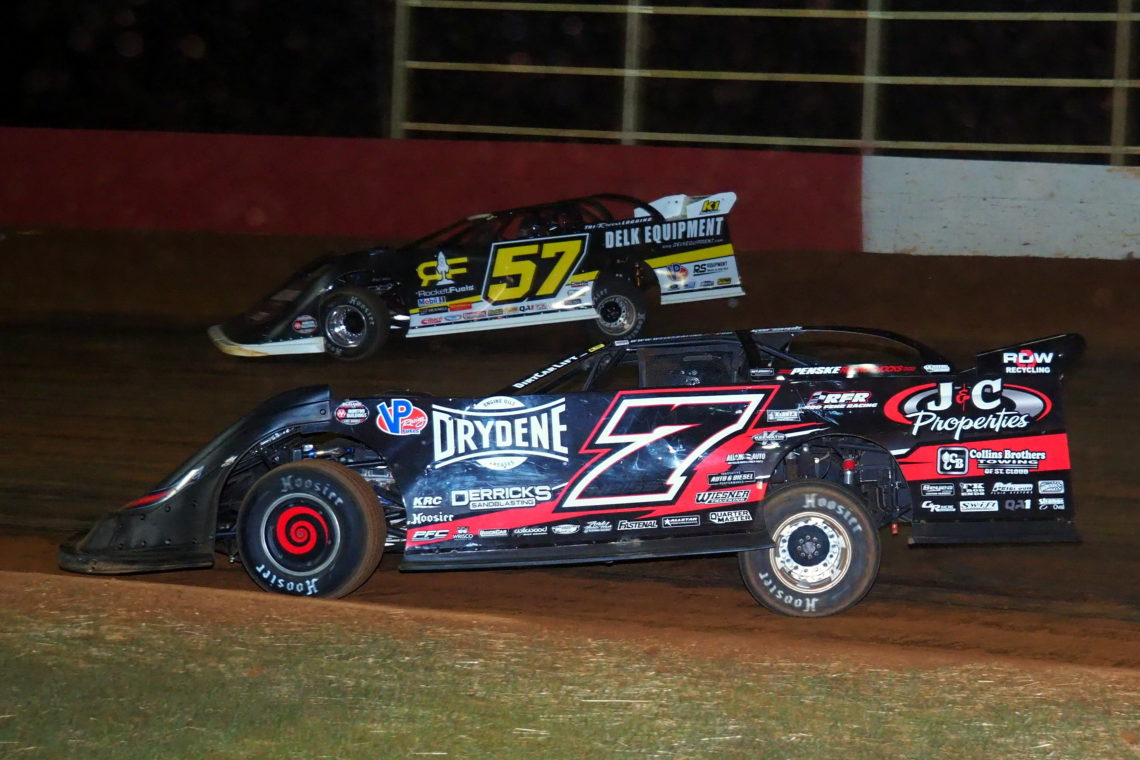 Mike Marlar and Ricky Weiss at Smoky Mountain Speedway March 7, 2020