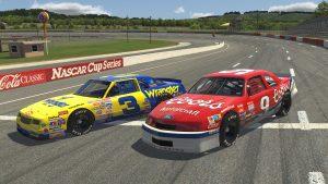NASCAR Legends Dale Earnhardt and Bill Elliot 1987 Cars