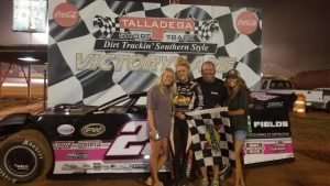 Ahnna Parkhurst and Friends in Victory Lane at Talladega Short Track