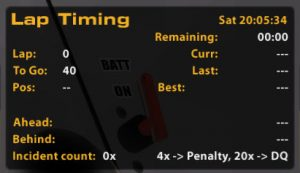 iRacing Lap Timing Black Box 4x Penalty